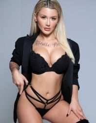 Fantasy escort Ivy in sexy black lingerie - European escort in Kensington, Central London
