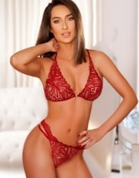 Escort Kate in sexy red underwear - Eastern European escort in Chelsea, Westminster