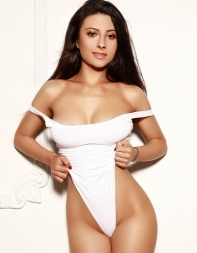Eastern European escort Kenya in white swimsuit - Eastern European escort in Marylebone, Baker Street