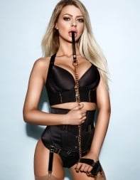 Eastern European escort Reece in her black fetish outfit with whip. - Eastern European escort in Earls Court, Fulham