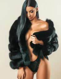 Escort Audrey in black fur coat -  escort in Mayfair, Park Lane