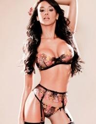Brazilian escort Becky in her sexy lace underwear